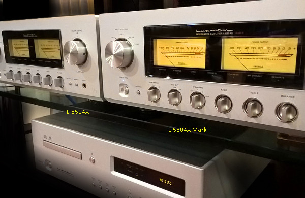 LUXMAN L-550AX Mark II vs L-550AX